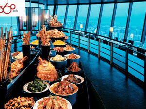 food | buffet | Macao | Tower | 360 revolving restaurant | Cafe 360 Buffet - Macau Tower